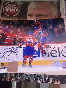 NHL Frameworth Signed Pictures with COA