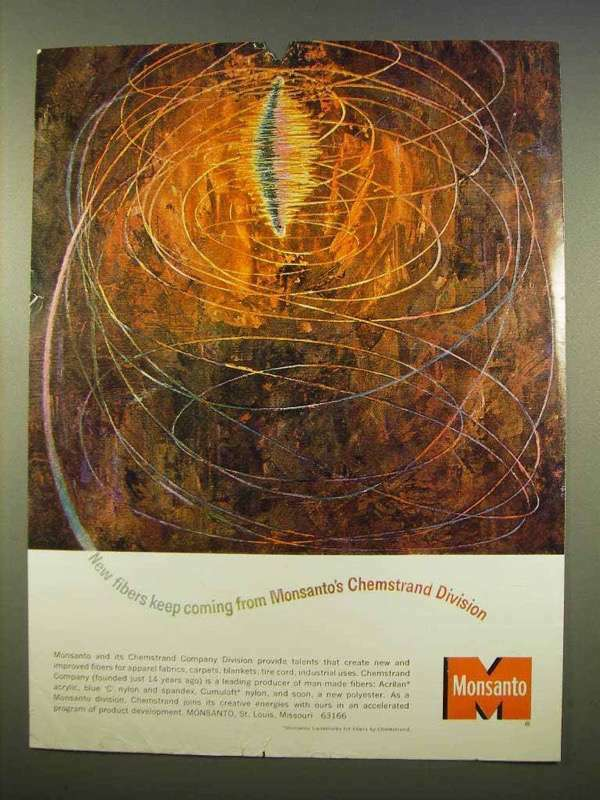 1963 Monsanto Chemstrand Ad - New Fibers Coming