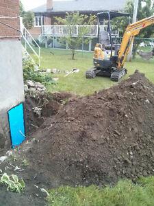 55$/hr Excavatrice à louer avec opér  qualifié 7/7 514-545-2163 West Island Greater Montréal image 9