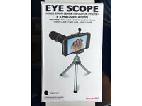 """EYE SCOPE"" iPhone 4 Mobile Zoom Lens & Tripod"