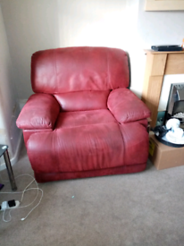 Soft leather recliner
