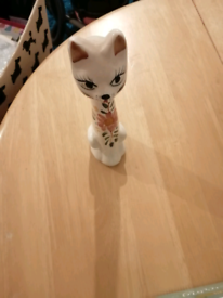 For sale nice tall thin cat in white and flower s on it it not crack I