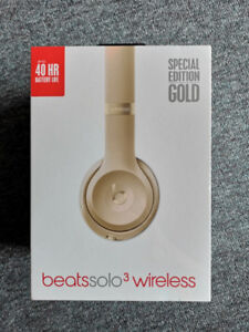 UNOPENED Beats by Dr. Dre Solo3 Wireless Headphones: Gold