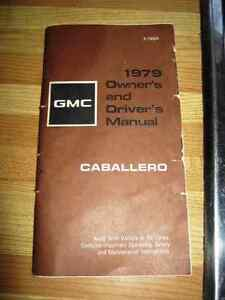 1979 GMC Caballero Owners Drivers Manual
