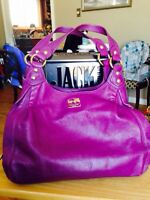 Coach pink purple leather purse madison maggie style