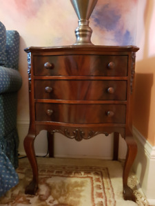 Fabulous wood furniture. Marble coffee table,2 ends,occasional.