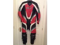 RST One Piece Leathers Size UK 46 Red/White & Black