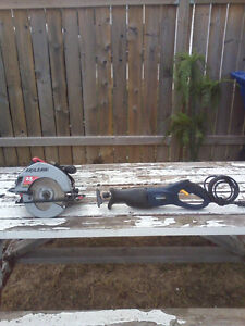 Corded Circular Saw & Corded Reciprocating Saw