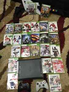 Xbox 360 -24 games, 3 controllers ,guitar,headset