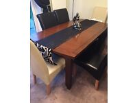 Solid wood extendable dining table from Debenhams seats 6/8