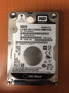 "500GB WESTERN DIGITAL BLACK 2.5"" Performance Laptop Hard Drive"