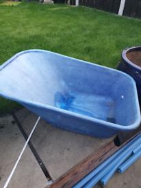 Wheelbarrow top blue
