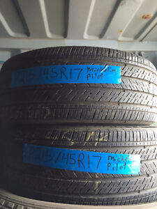 2 USED MICHELIN PILOT SPORT TIRES 215/45R17