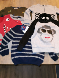 boys clothes 5x boys age 3-4 jumpers