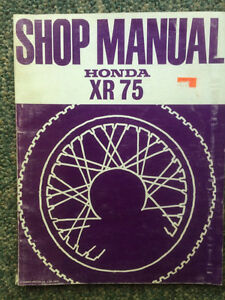 Honda XR75 Shop Manual Regina Regina Area image 1