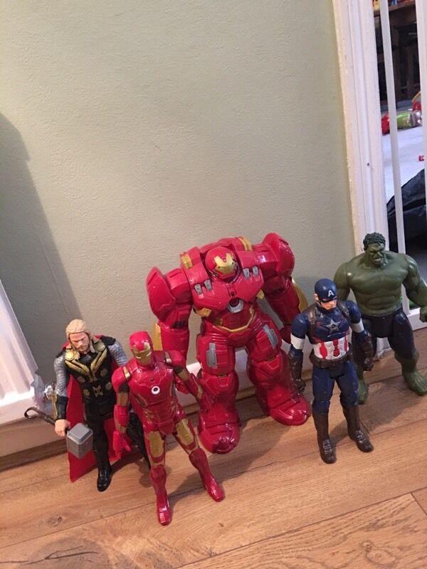 Interactive avengers figures