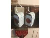 2x paraffin lamps ideal for patio BBQ look great