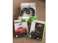 XBOX 360 Steering Wheel with Forza 3 & 4 Games