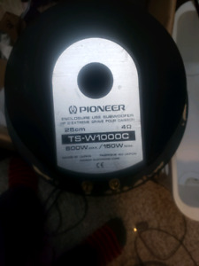 Pioneer 10 inch subwoofers