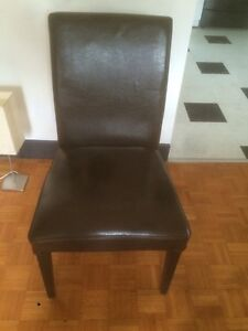 4- IKEA leather dining chairs