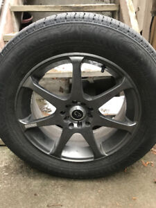 "Like New - 4 - 17"" NOKIAN Entyre with Core Racing Wheels"