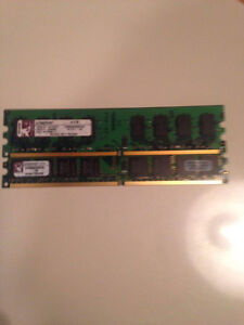 Kingston kvr 2gb sdram-ddr2 dimm (x2=4gb)