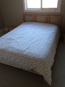 Full size Ikea Bed Frame with Mattress
