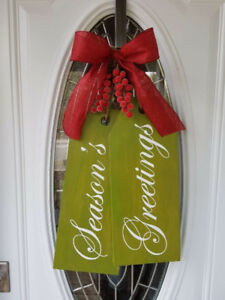 Custom Christmas Door Tags