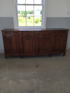 Antique Oak French Country Buffet.