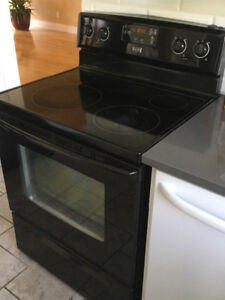 Black fridge and stove for Sale