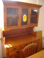 Roxton maple buffet and hutch. $399.