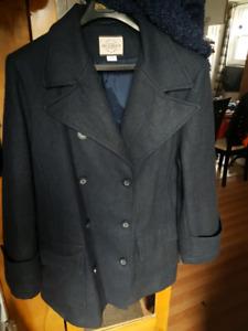 Women's large Wool lined coat
