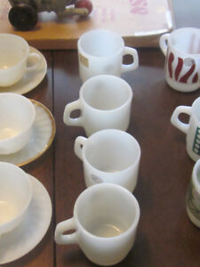 Fire King Anchor Hocking Coffee Cups and Tea Cups And Saucers