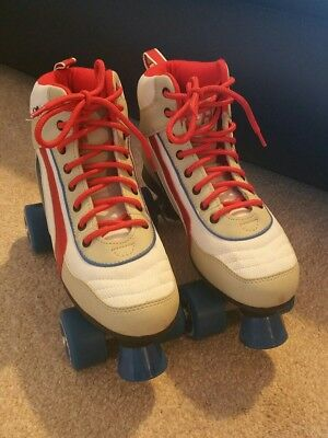 Rio Roller Skates size 5 or 6 retro red white & blue vgc