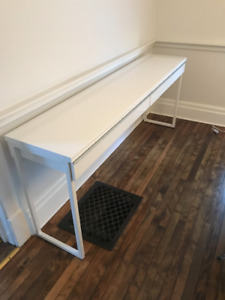White Gloss Credenza / Sideboard with Two Drawers