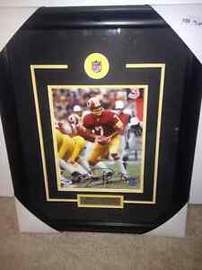 """Awesome 17"""" x 21"""" Frames 8x10 signed photo of Joe Theismann of t"""