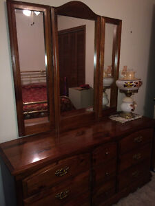 Dresser with Mirror, Armoire  and Night Tables