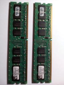 4G RAM Kingston KVR533D2N4K2/2G. Full functional tested