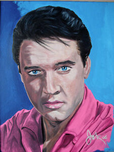 FOR SALE BY ARTIST 1 OF A KIND ORIGINAL ELVIS PRESLEY PAINTING
