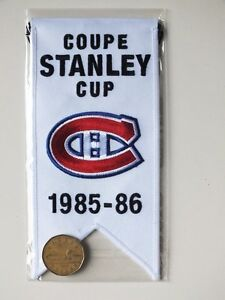 CENTENNIAL STANLEY CUP 1985-86 BANNER MONTREAL CANADIENS HABS Gatineau Ottawa / Gatineau Area image 2