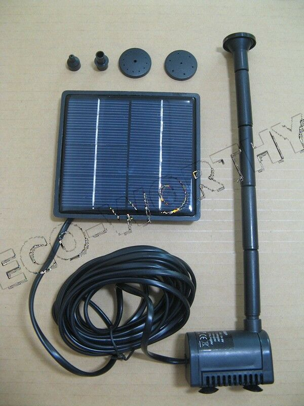 Solar Powered Fountain Submersible Water Pump Garden Pond Pool Feature Kit Panel Ebay