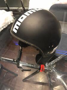 MOMO FGTR EVO Matte Black Scooter Helmet - S
