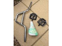 BMX BARS SEAT & PEDALS