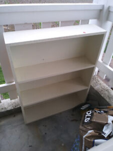 Bookcases - 3 small white bookcases solid wood