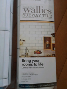 Wall subway tile decal