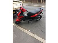Gilera runner st 125 with 300cc Vespa engine