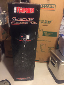 "New- Rapala Ice Auger - 8"" Black Ice 43cc Power"