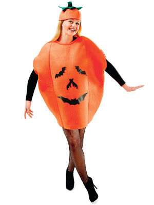 Adult Ladies Mens Novelty Pumpkin Halloween Party Fancy Dress Costume Outfit New - Adult Pumpkin Outfit