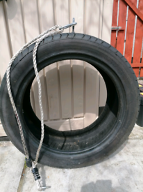 New Large Tyre swing with rope