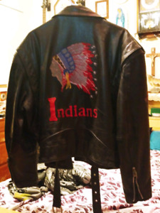Indian leather motorcycle jacket